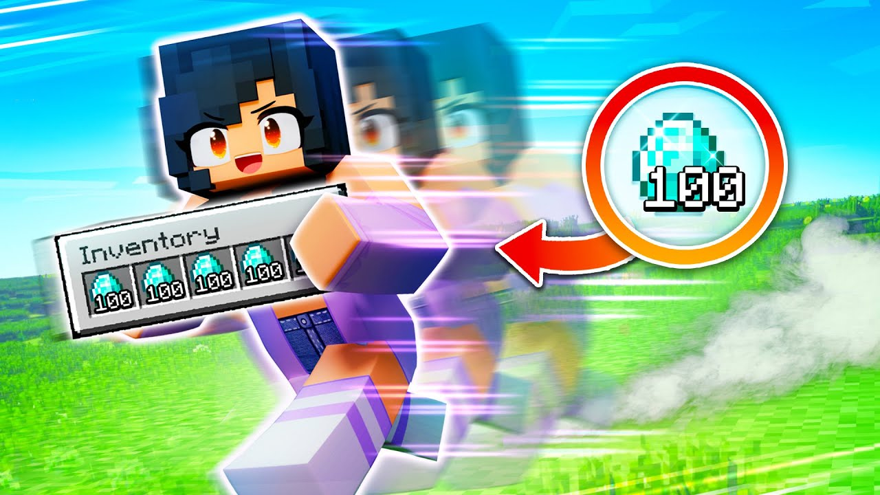 Minecraft But INVENTORY Makes You GO FASTER!