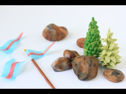 How to Make Edible Trees, Rocks, and Flags (for My 3-D Castle Cookie)