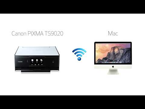 Canon PIXMA TS9020 - Easy Wireless Connect Method with a Mac