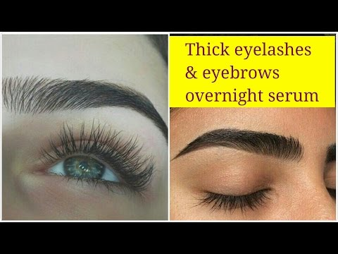 How to get thick dark eyelashes & eyebrows naturally, Natural big eyelashes home remedy.