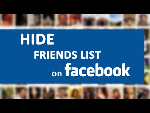 How to Hide Friends list on Facebook from others 2015?