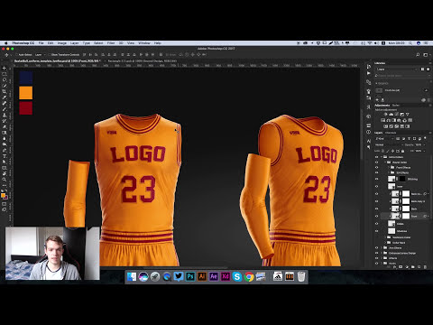 Design the Basketball Uniform of NBA Cleveland Cavaliers Using PSD Template | Photoshop Tutorial