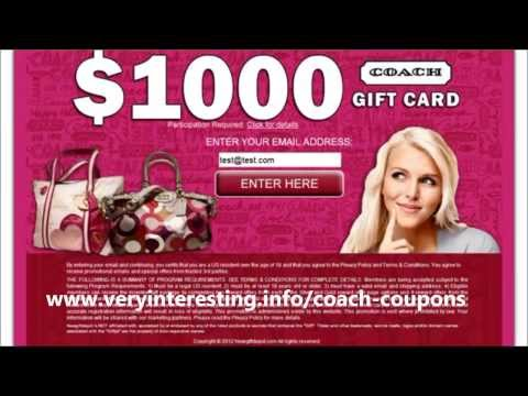 Get Coach Coupons Worth  $1000 Here   Get Coach Bags For FREE With Coach Coupons!