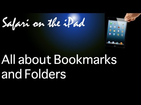 Safari bookmarks and folders on the iPad