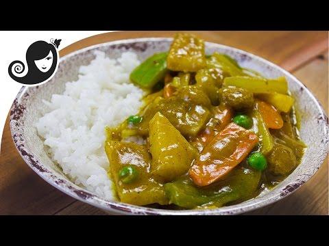 Chinese Vegetable Curry with Jicama and Soya Chunks (TVP)   Vegan/Vegetarian Recipe