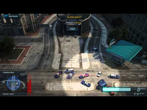 NFS Most Wanted(2012): Stupid Cops - Timelapse