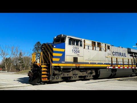 Citirail CREX 1504 Freight Train Full Drive-By | Richmond Hill, Ontario (April 29, 2018)