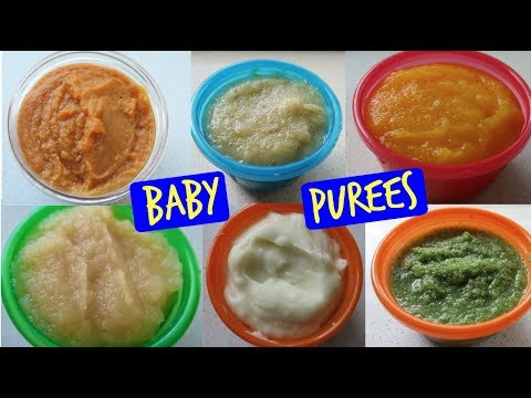 HOMEMADE BABY FOOD PUREE RECIPES | FIRST FOODS | STAGE 1 WEANING