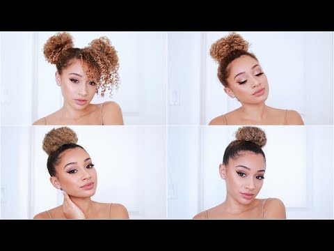 4 Easy Bun Hairstyles for Curly Hair