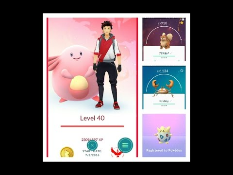 Pokemon Go Level 40 - High CP Evolutions - CP918 Growlithe - CP967 Geodude + Hatching Togepi
