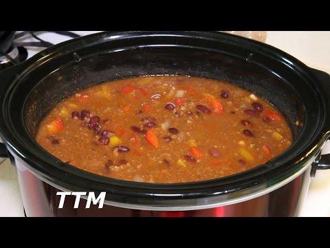 Crock Pot Chili~Ground Beef Chili Recipe Slow Cooker