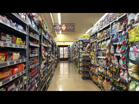Tourist voiceover  - Grocery store asmr