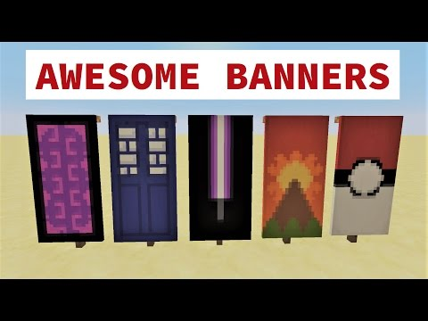 ✔ TOP 5 AWESOME MINECRAFT BANNER DESIGNS WITH TUTORIAL!