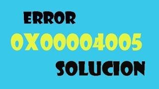 0x80004005 error fixing method on windows7 32bit and 64bit