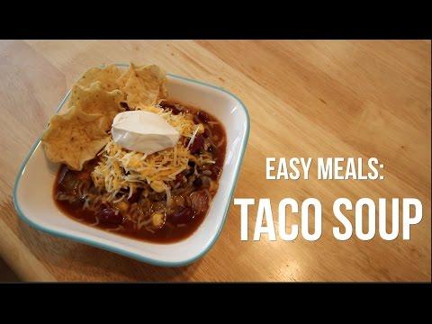 EASY CROCKPOT TACO SOUP | ITSJUSTKELLI
