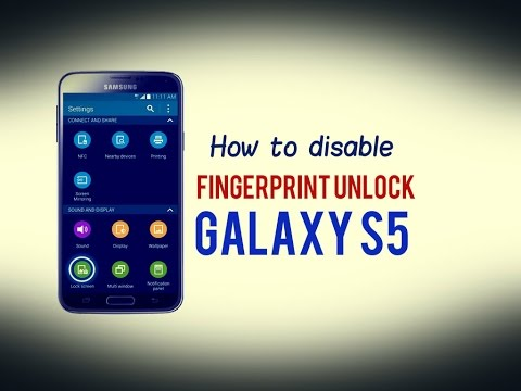 How to disable Fingerprint Unlock Samsung Galaxy S5
