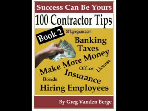 Contractor Tips Book 2 - Construction Business Information
