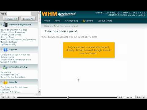 How to synchronize your server's time and set its time zone using WHM - WHM Setup Tutorials
