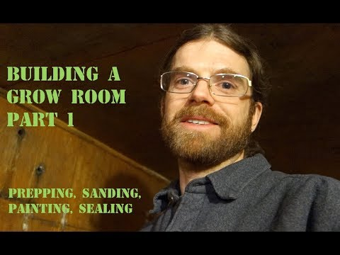 Building a grow room part 1- prepping the space
