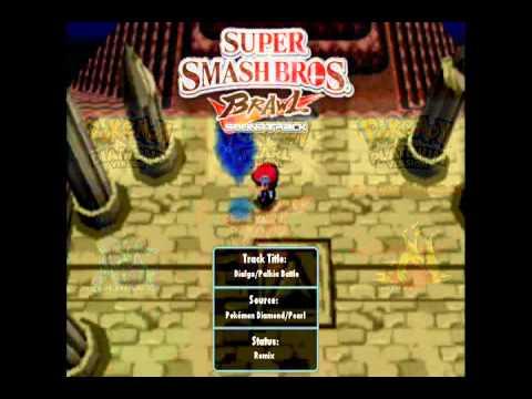 [Music] Super Smash Bros. Brawl - Dialga/Palkia Battle at Spear Pillar!