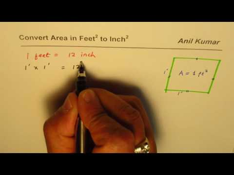 How to Convert Area in Feet Square to Square Inches