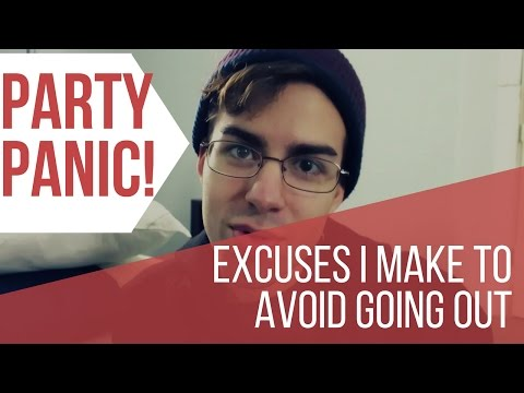 Party Panic - Excuses I Make to Avoid Going Out 🐧🎉🎇 #socialanxiety
