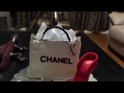 Chanel shoes cake