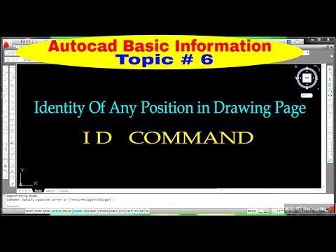 ID command in autocad || Find co-ordinate of any position in Autocad