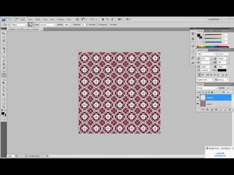 How to change the color of a pattern in photoshop! *VERY EASY*