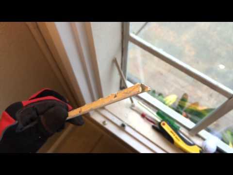 How to Repair a Broken Window in an Aluminum Frame - Part 2