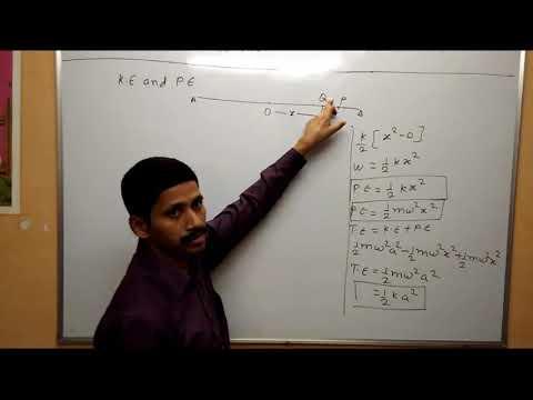 KInetic Energy and Potential Energy of SHM Oscillation Maharashtra Board Physics Class 12