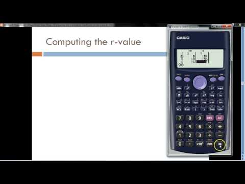 Computing the Correlation Coefficient on the Casio fx-300ES Calculator