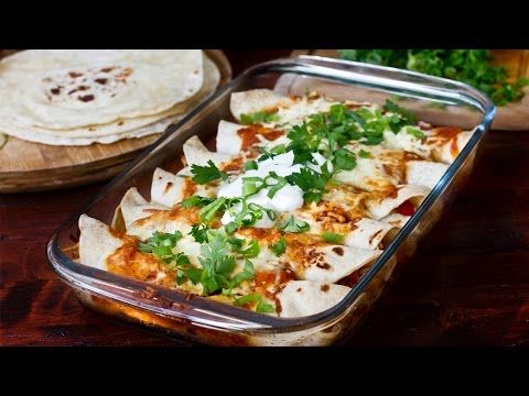 Chicken and Bean Enchiladas Recipe