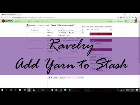 How to Add Yarn to Your Stash on Ravelry
