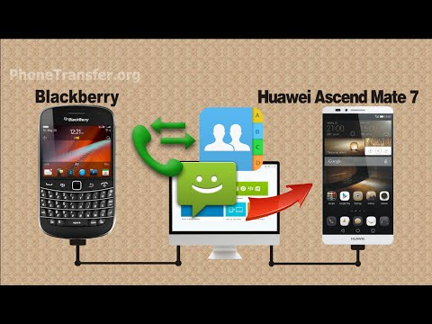 [BlackBerry to Huawei] How to Copy Contacts, SMS, Call logs from BlackBerry to Ascend Mate 7