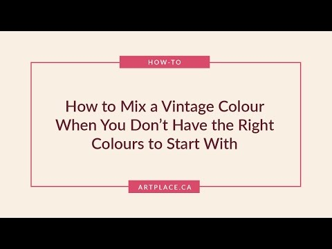 How to Make a Vintage Colour When You Don't Have the Right Colours - Fan Request