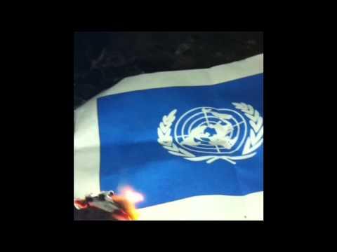 U N Flag Burning