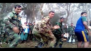 BD Army dance, Army Soldier amazing dance performance in winter season exercise