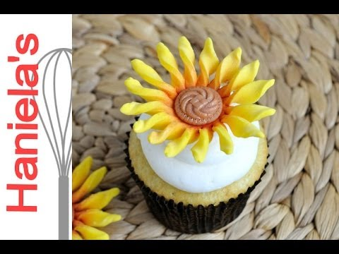 Easy Sunflower Fondant Flower Tutorial