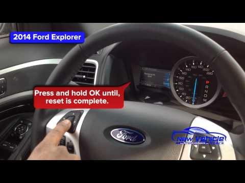 2014 Ford Explorer Oil Light Reset / Service Light Reset