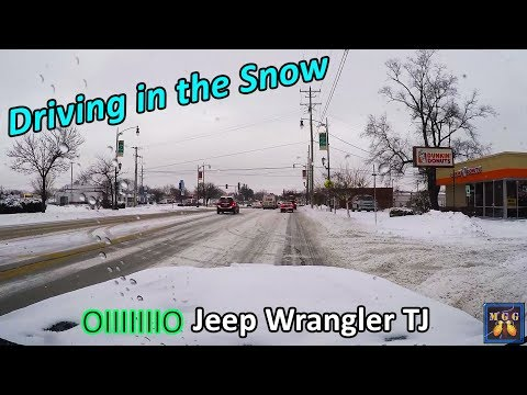 Driving My Jeep Wrangler TJ In Chicago Snow 1-19-2019