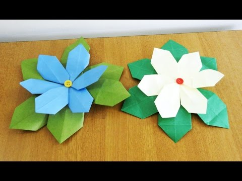 Paper Flower Tutorial (Poinsettia)~~Folding Instructions~~How to make an Easy Paper Flower....