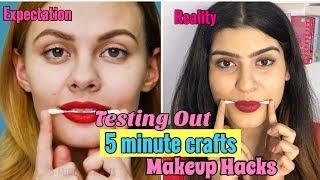 Testing Out Viral Makeup Hacks by 5 MINUTE CRAFTS | Yashita Rai