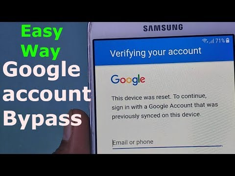 Bypass Google Account Verification SAMSUNG J5,J7,A5,A7,A8,S6,S7,S8 ANDROID 7.0 AND Above
