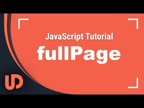 FullpageJS! Einfach Fullpage Siteshows erstellen! [TUTORIAL]