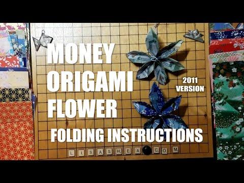 Money Origami Flower Folding Instructions