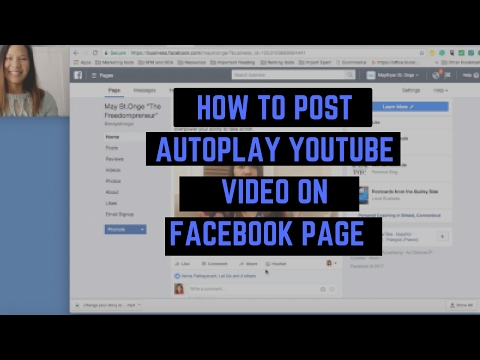 HOW TO POST AUTOPLAY YOUTUBE VIDEO ON FACEBOOK PAGE