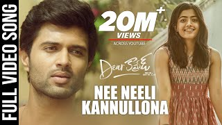 Dear Comrade Video Songs - Telugu | Nee Neeli Kannullona Video Song | Vijay Deverakonda | Rashmika
