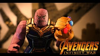 Avengers Infinity War: Iron Man vs Thanos in LEGO
