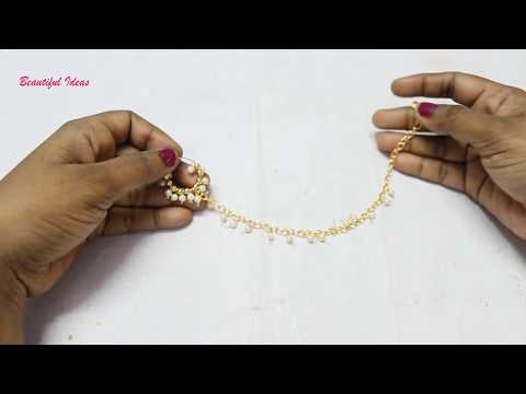 How to Make Simple Bridal Nose Ring/Mukkera at Home Tutorial../Bahubali 2 Anuskha Jewellery